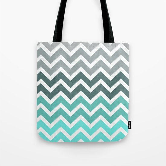 Tiffany Fade Chevron Pattern Tote Bag
