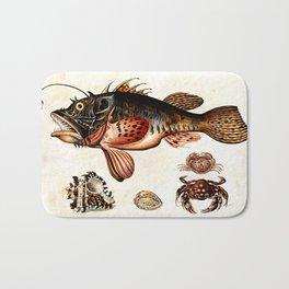 Deep sea fish, crabs and sea snails Bath Mat