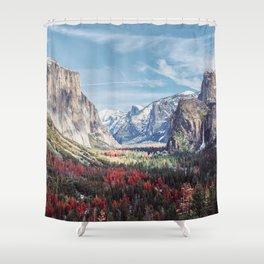 Tunnel View Yosemite Valley Shower Curtain