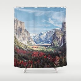 Tunnel View Yosemite Valley Shower Curtain
