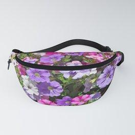 Petunias in bloom Fanny Pack