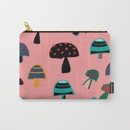Cute Mushroom Pink Carry-All Pouch