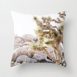 Close Up Of Joshua Tree In Desert Throw Pillow