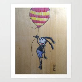 Balloon Travel Art Print
