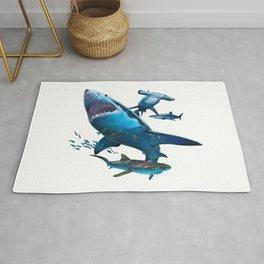 Shark Collage Rug