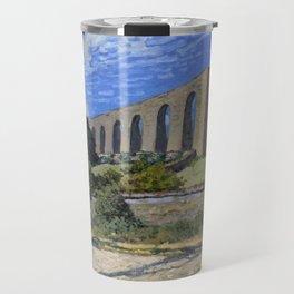 Alfred Sisley - Aqueduct at Marly (1874) Travel Mug