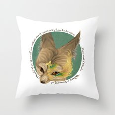 fox and mask  Throw Pillow