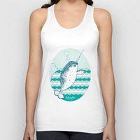 narwhal Tank Tops featuring Narwhal by 。i。f。studio