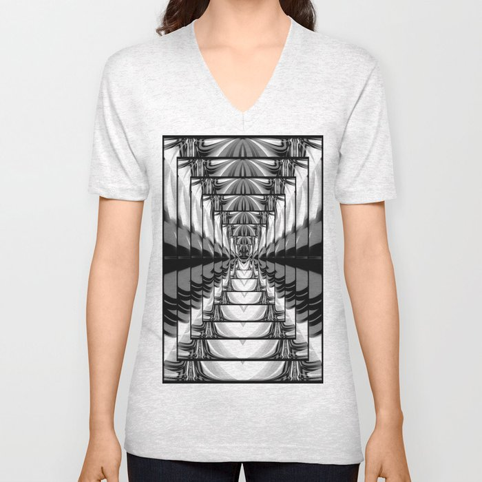 Abstract.Black+White. Unisex V-Neck
