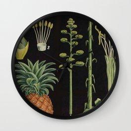 Botanical Pineapple Wall Clock