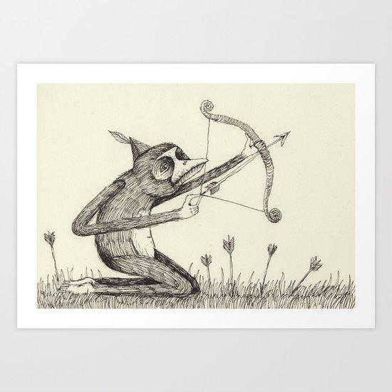 'Bow & Arrow' Art Print