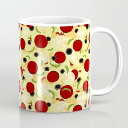 Pizza Toppings Pattern Coffee Mug