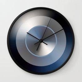 Serene Simple Hub Cap in Blue Wall Clock