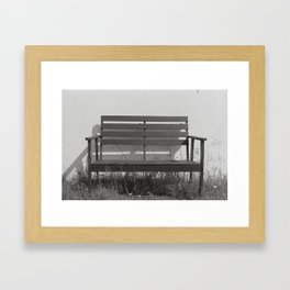 substitutes' bench  Framed Art Print