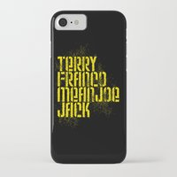 steelers iPhone & iPod Cases featuring Terry Franco Mean Joe Jack / Black by Brian Walker
