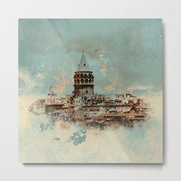 Galata Tower Metal Print