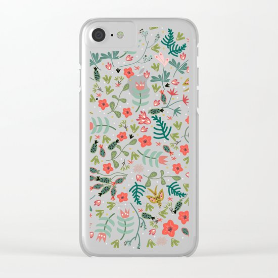 Flying Around in the Garden Clear iPhone Case