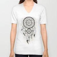 dreamcatcher V-neck T-shirts featuring Dreamcatcher by Nora Bisi