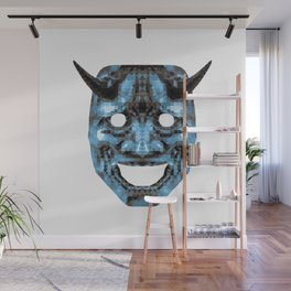 Hannya - low poly Wall Mural