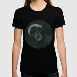 The Wolf Man on vinyl record print T-shirt