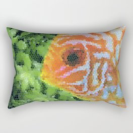 Stained Glass Fish Rectangular Pillow