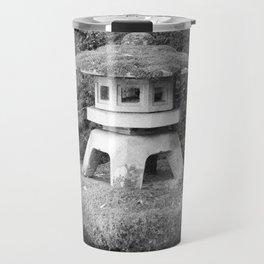 Stone lantern in Japanese Zen Garden Travel Mug