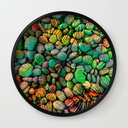 Stones and Palms - Caribbean Turquoise Wall Clock