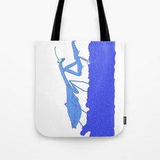 Blue Praying Mantis Tote Bag