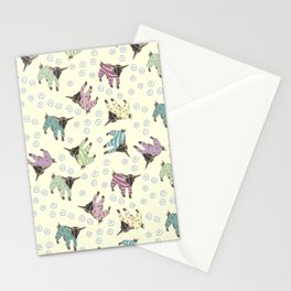 Pajama'd Baby Goats - Yellow Stationery Cards
