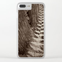 Single Copper Fern Clear iPhone Case
