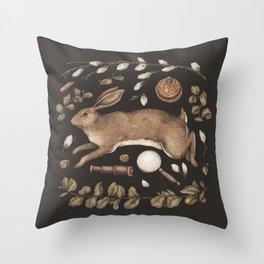 Rabbit's Garden Collection Throw Pillow
