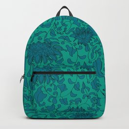 Chinoiserie Vines in Jade + Emerald Backpack