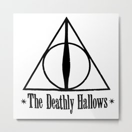 Deathly Hallows Harry Metal Print