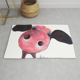 Nosey Pig ' CLARENCE ' by Shirley MacArthur Rug