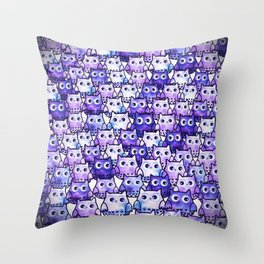 owl-111 Throw Pillow
