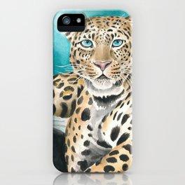Amur Leopard Watercolor Fine Art iPhone Case