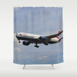 British Airways Boeing 777 Shower Curtain