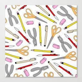 Drawing Tools Canvas Print