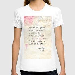 Persian poet Hafez  T-shirt