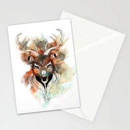 Deer- color brown Stationery Cards