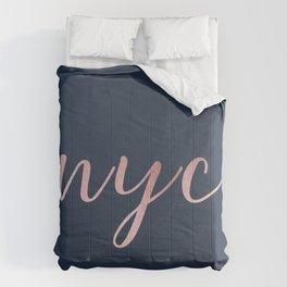 nyc shine Comforters