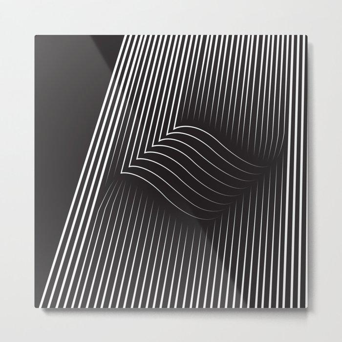 Folded Stripes Metal Print