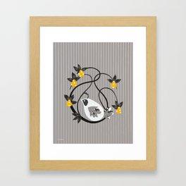 twirly bird Framed Art Print