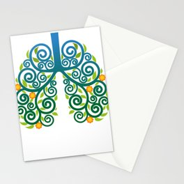 Healthy lung Stationery Cards