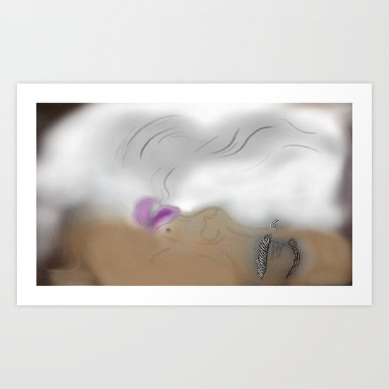 Up in Smokes Art Print