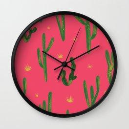 Desert Vibes Pink Wall Clock