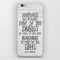 dumbledore iPhone & iPod Skins featuring Albus Dumbledore Quote Inspirational by Go Art
