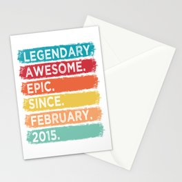 February 2015 Limited Edition 5 Years Of Bring Awesome Legendary T-shirt Design Birthday Garment Stationery Cards