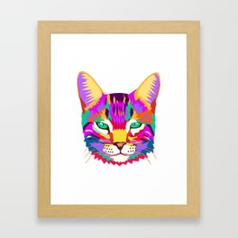 art cat Framed Art Print