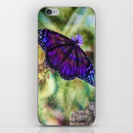 Butterfly in the Rain iPhone Skin